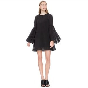 The Fifth Label Knit Long Sleeve Sheer Tunic Top